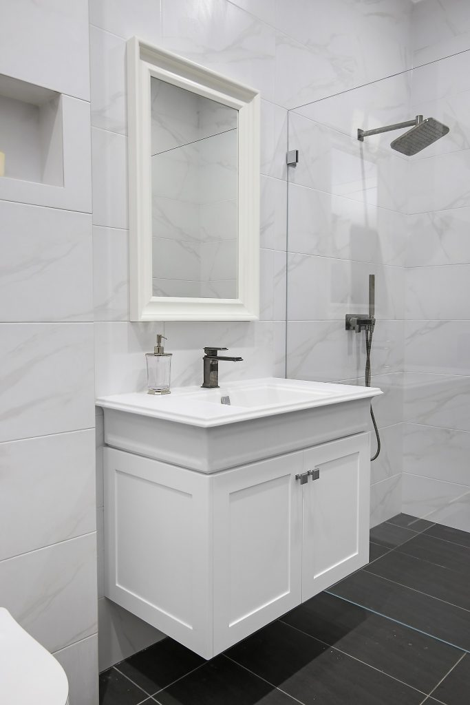 Shaker style vanity with a Caesarstone top - Earlwood, Sydney