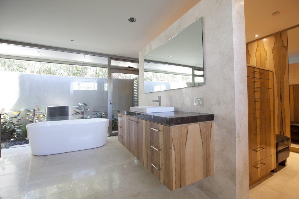 Timber Veneer vanity - Roseville Chase, Sydney