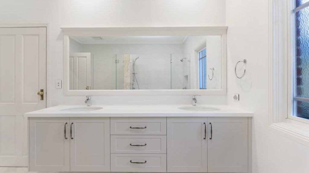 Shaker style vanity with a Caesarstone top - Wahroonga, Sydney