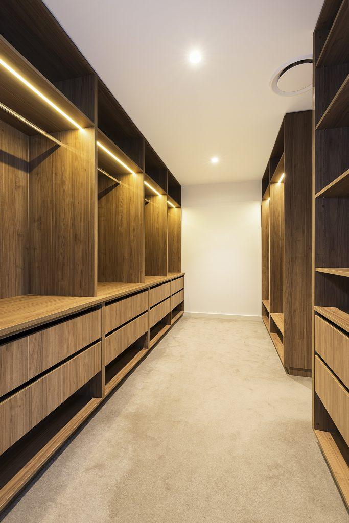 Polytec Woodmatt Walk-in wardrobe - Concord, Sydney