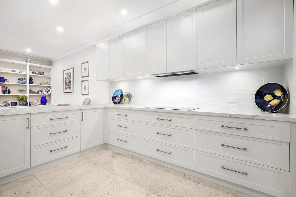 Killara, Polyurethane Shaker Style kitchen with a Smart Stone benchtop in Imperial Grande