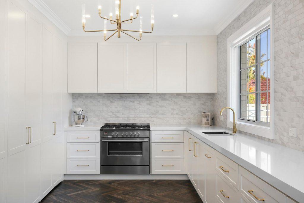Polyurethane Shaker style kitchen with Caesarstone Benchtop - Georges Hall, Sydney
