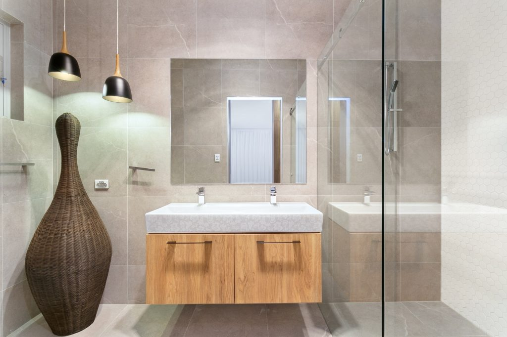 Likewood vanity and stone top - Guildford, Sydney