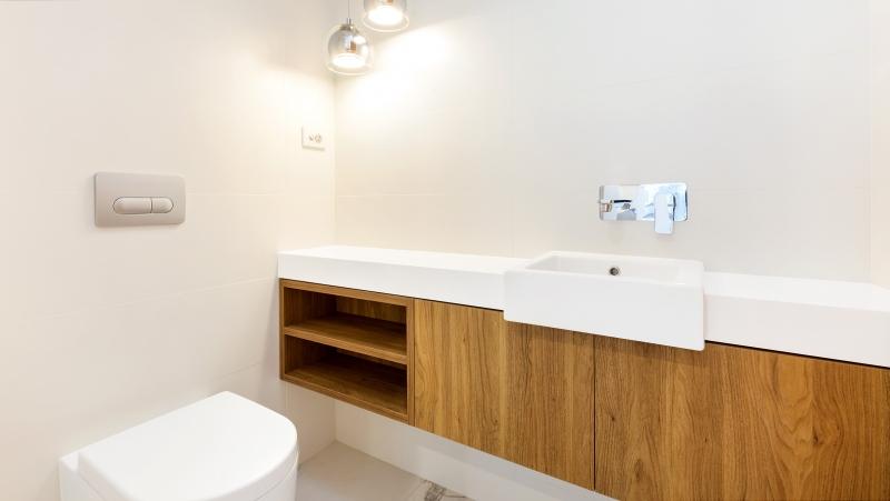 Likewood vanity with a Caesarstone top - Oatley, Sydney