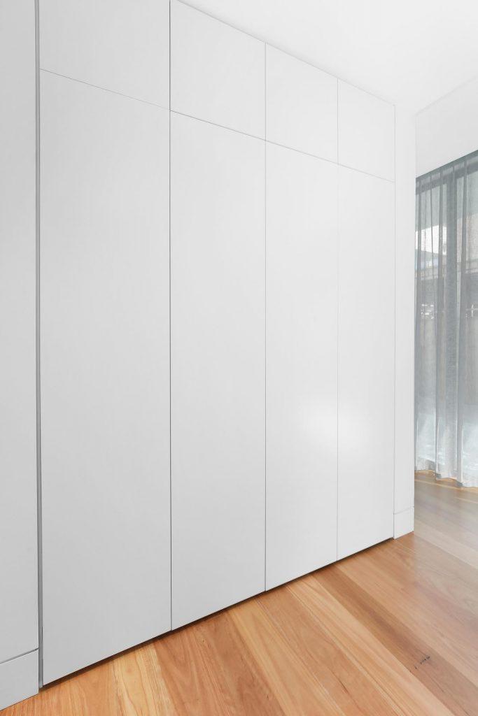 Polyurethane push-open storage cabinets - Putney, Sydney