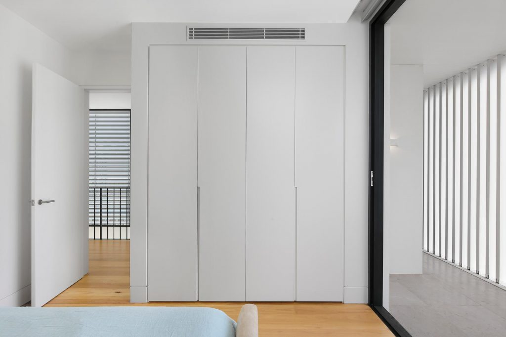 Polyurethane wardrobe with Routered handles - Putney, Sydney