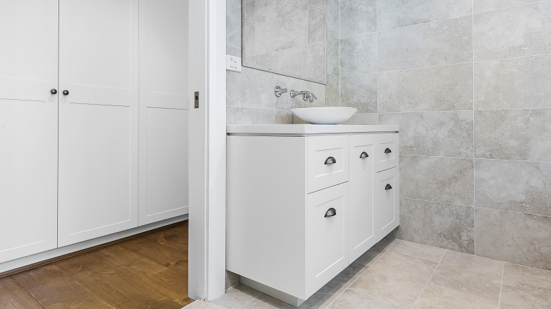 Shaker style vanity with a Caesarstone top - Oatley, Sydney